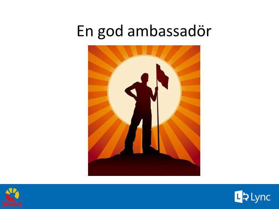En god ambassadör