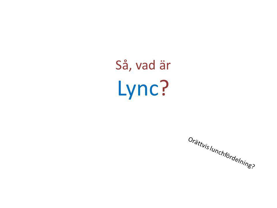 Så, vad är Lync Orättvis lunchfördelning