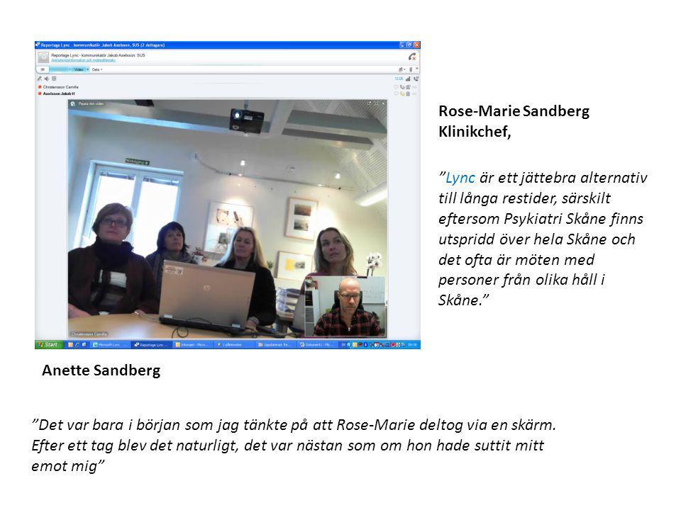 Rose-Marie Sandberg Klinikchef,