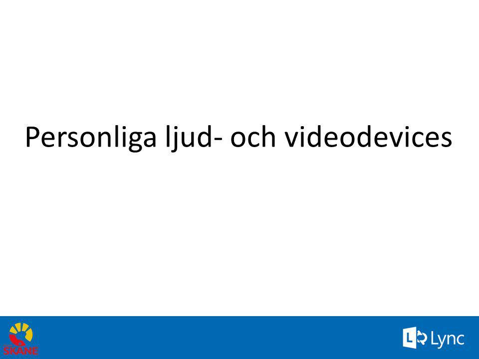 Personliga ljud- och videodevices
