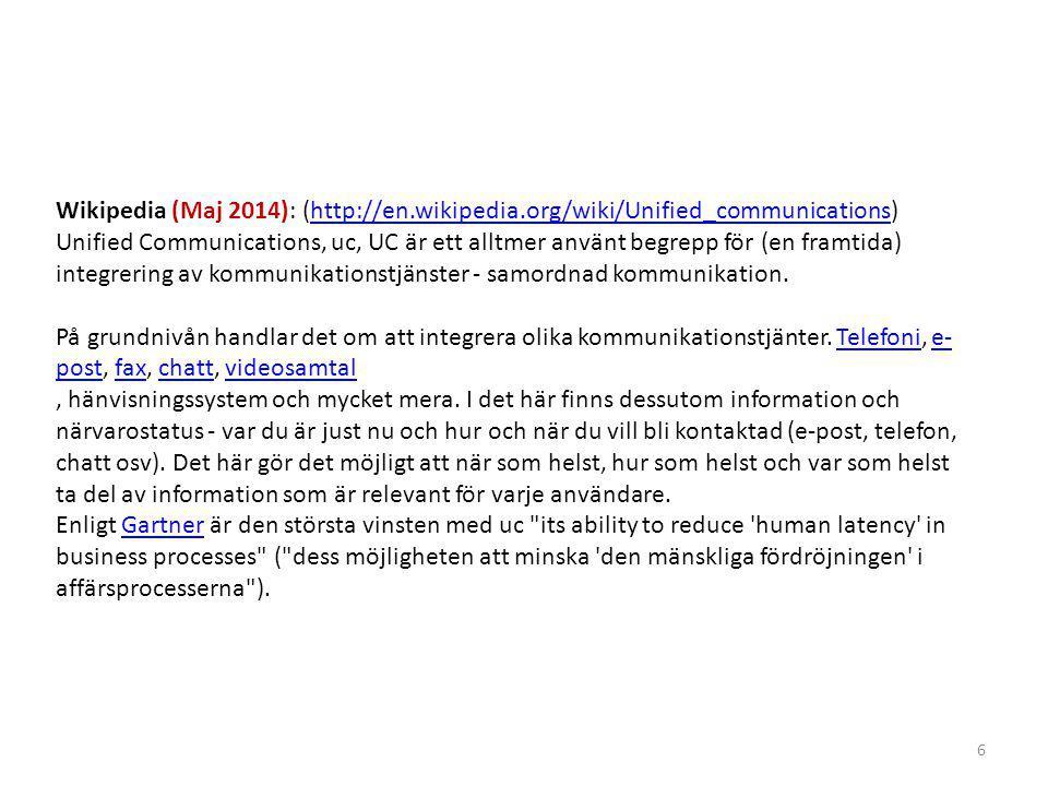 Wikipedia (Maj 2014): (http://en. wikipedia