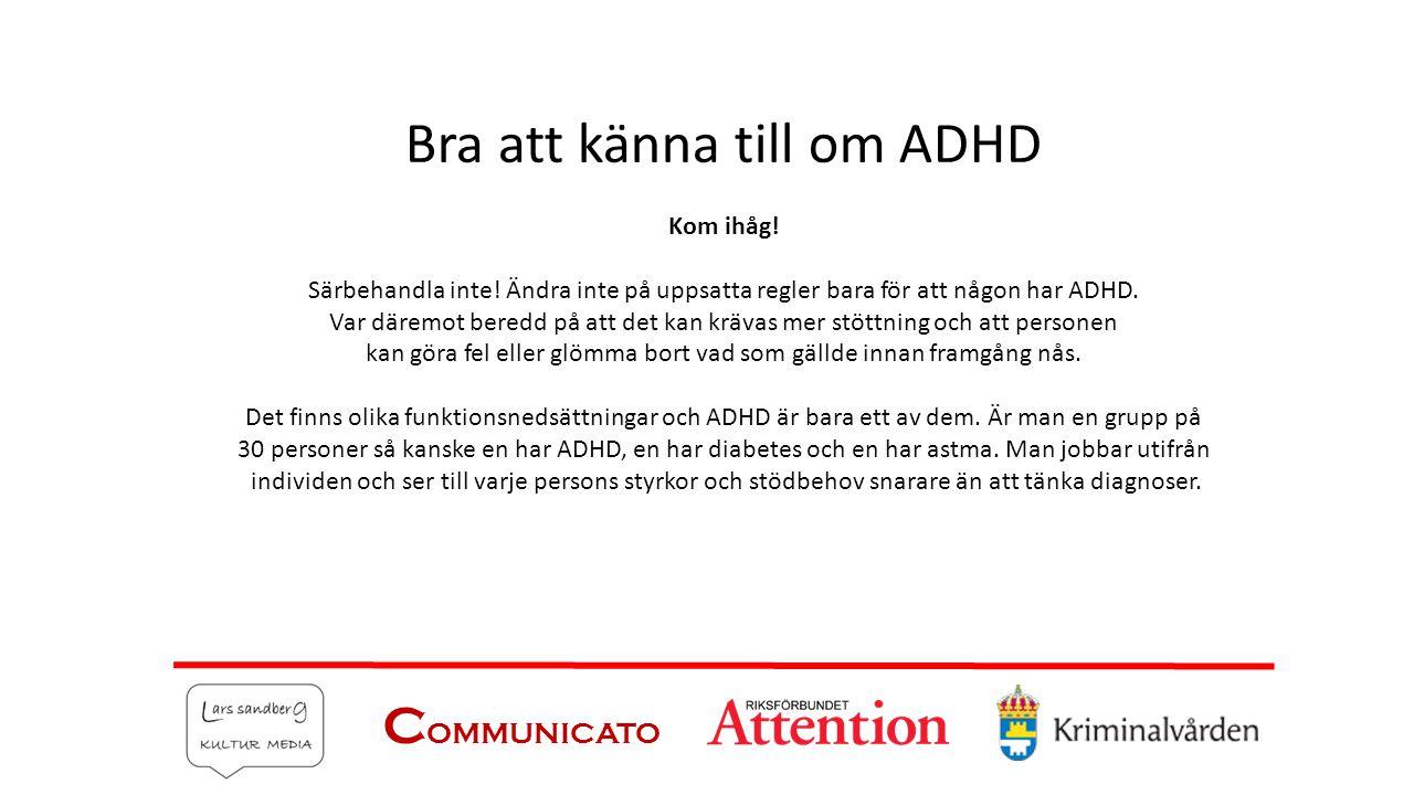 Bra att känna till om ADHD