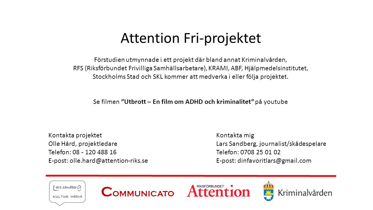 Attention Fri-projektet