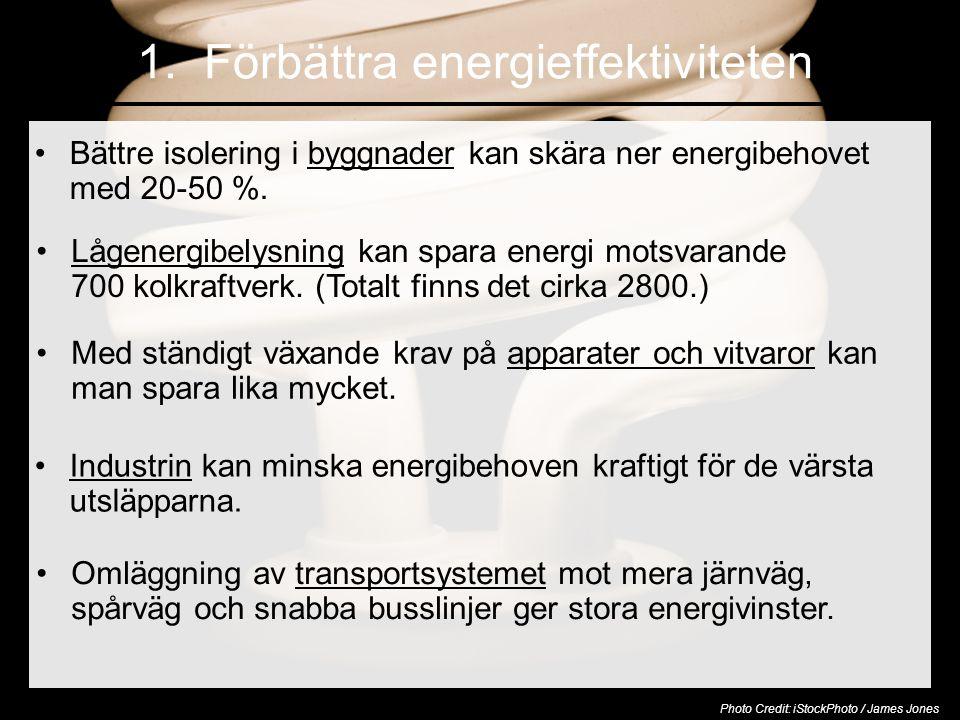 1. Förbättra energieffektiviteten