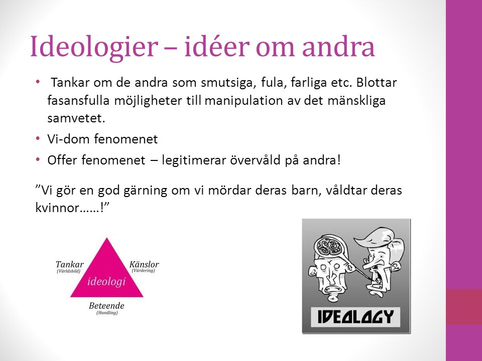 Ideologier – idéer om andra