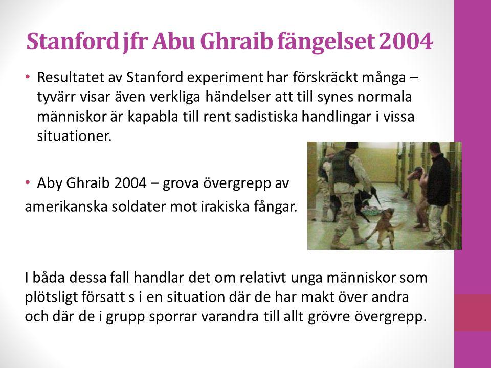 Stanford jfr Abu Ghraib fängelset 2004