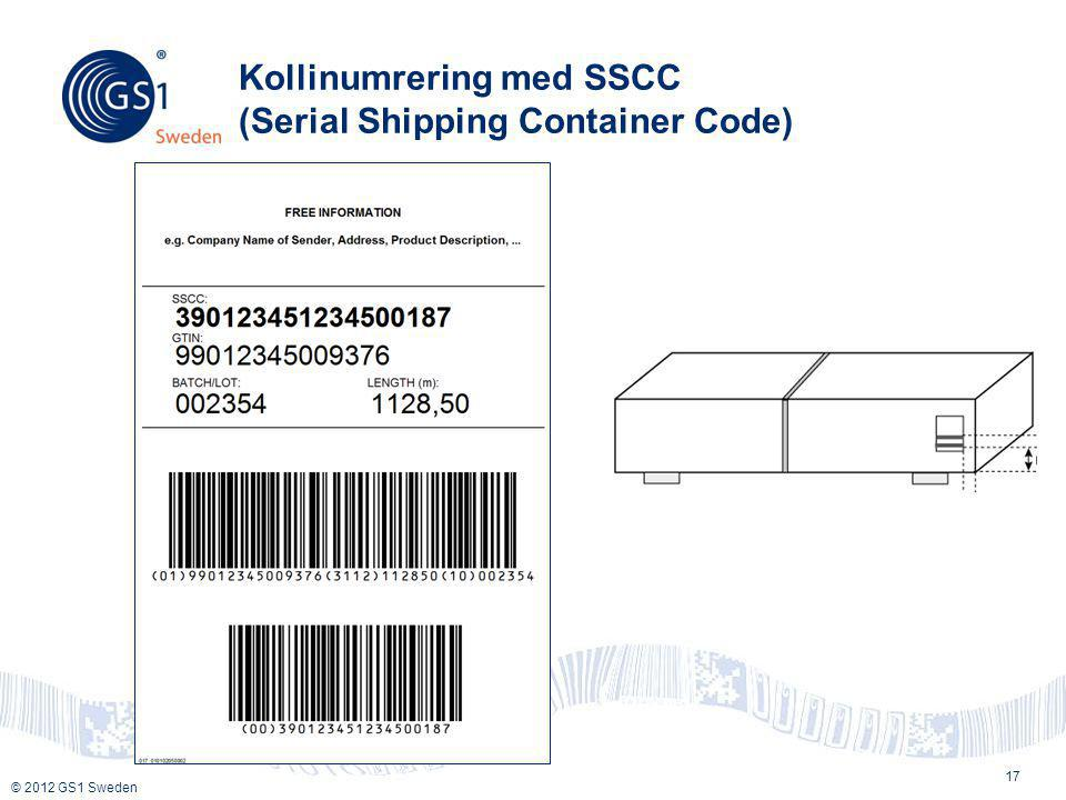 Kollinumrering med SSCC (Serial Shipping Container Code)