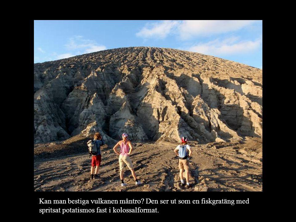 Kan man bestiga vulkanen måntro