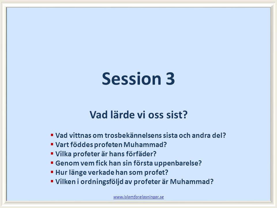 Session 3 Vad lärde vi oss sist