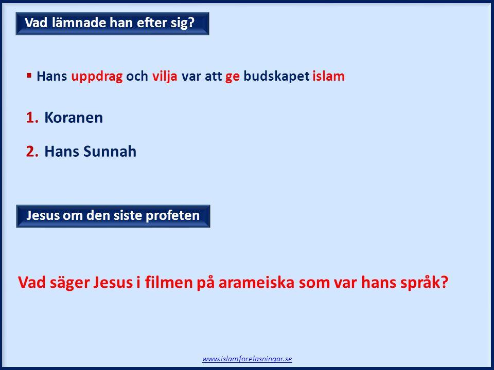 Vad säger Jesus i filmen på arameiska som var hans språk