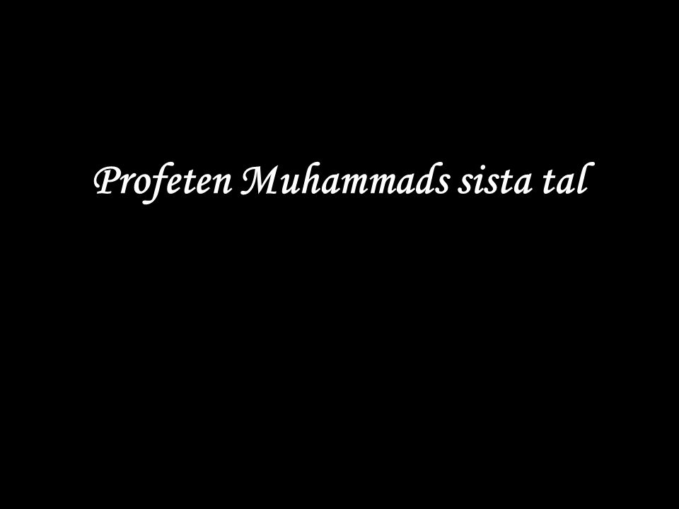 Profeten Muhammads sista tal