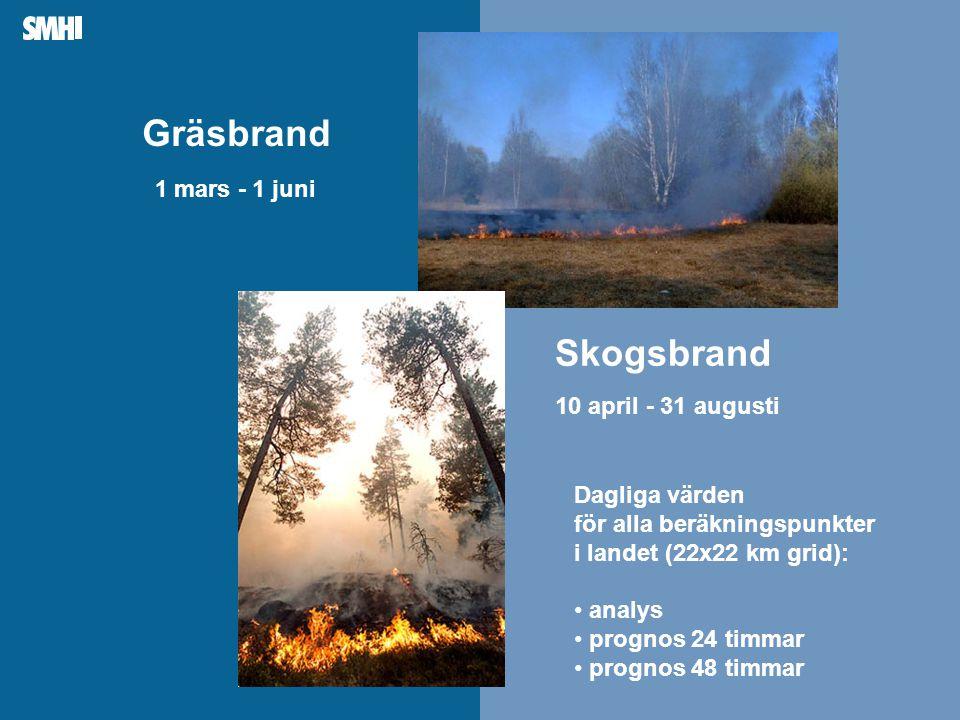 Skogsbrand 10 april - 31 augusti