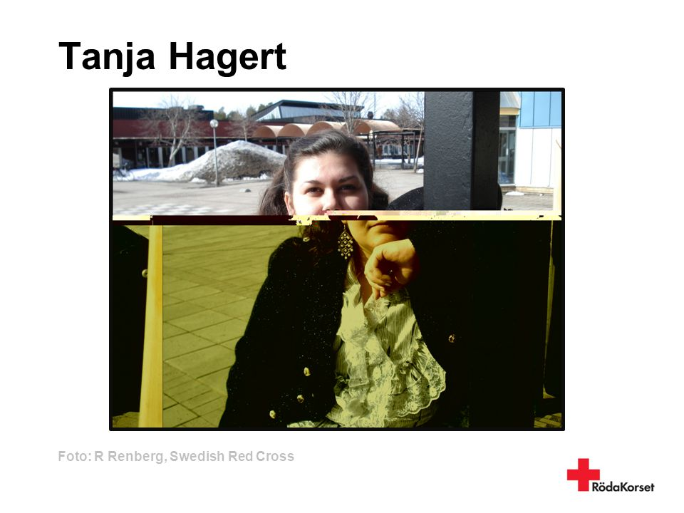 Tanja Hagert Foto: R Renberg, Swedish Red Cross