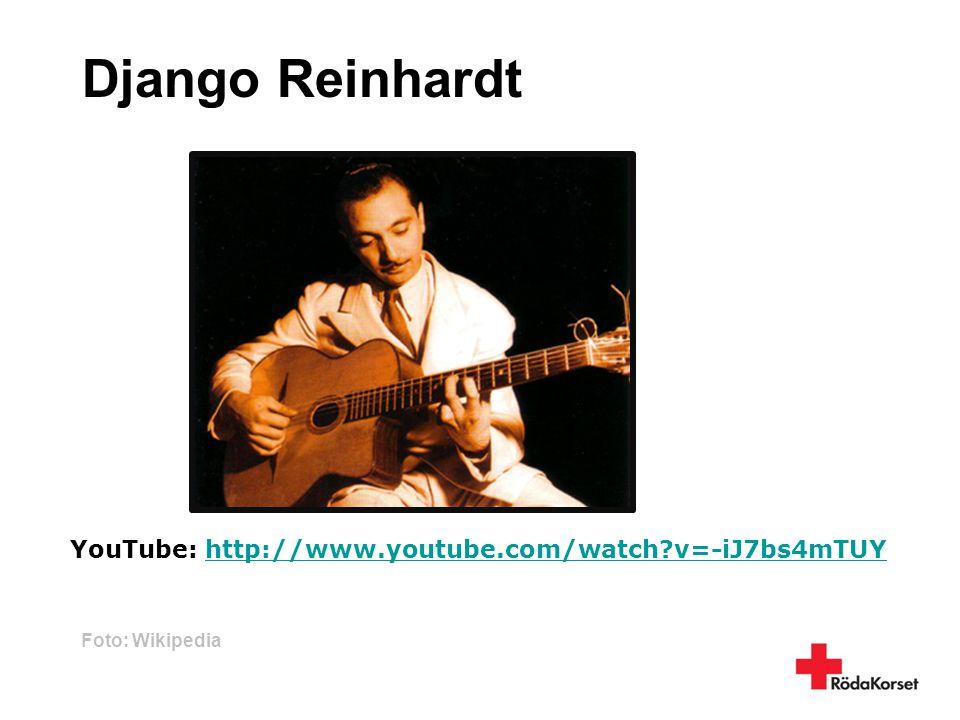 Django Reinhardt YouTube: http://www.youtube.com/watch v=-iJ7bs4mTUY