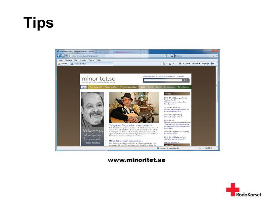Tips www.minoritet.se