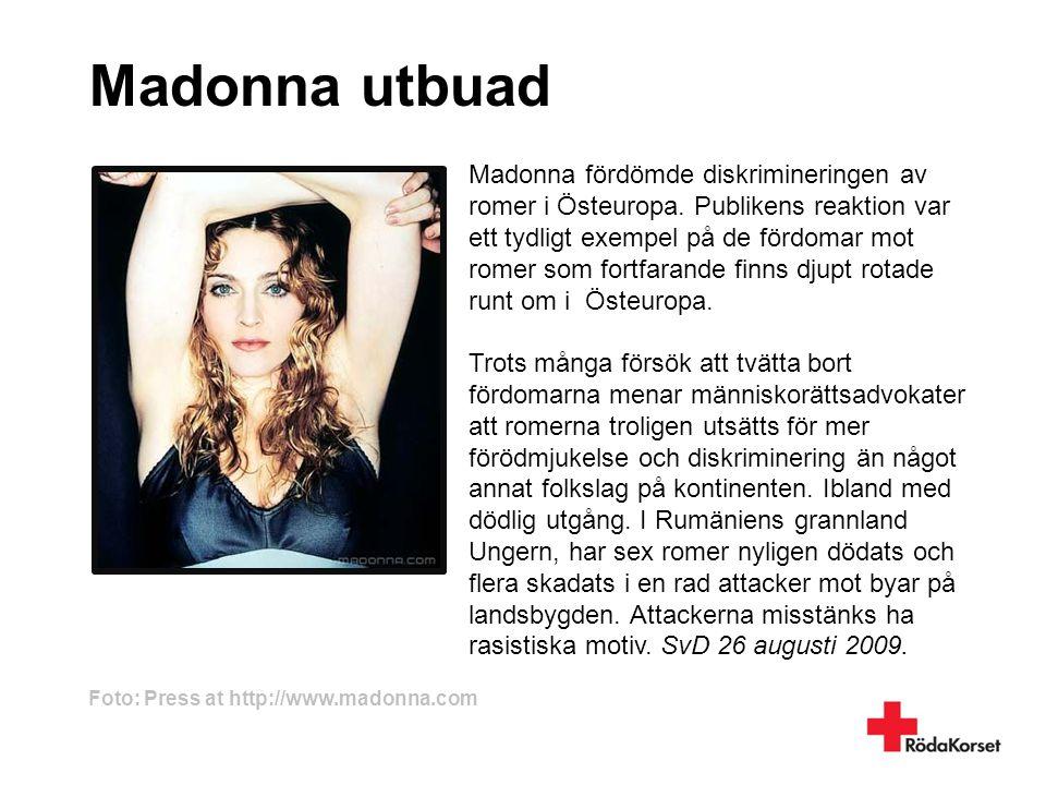 Madonna utbuad