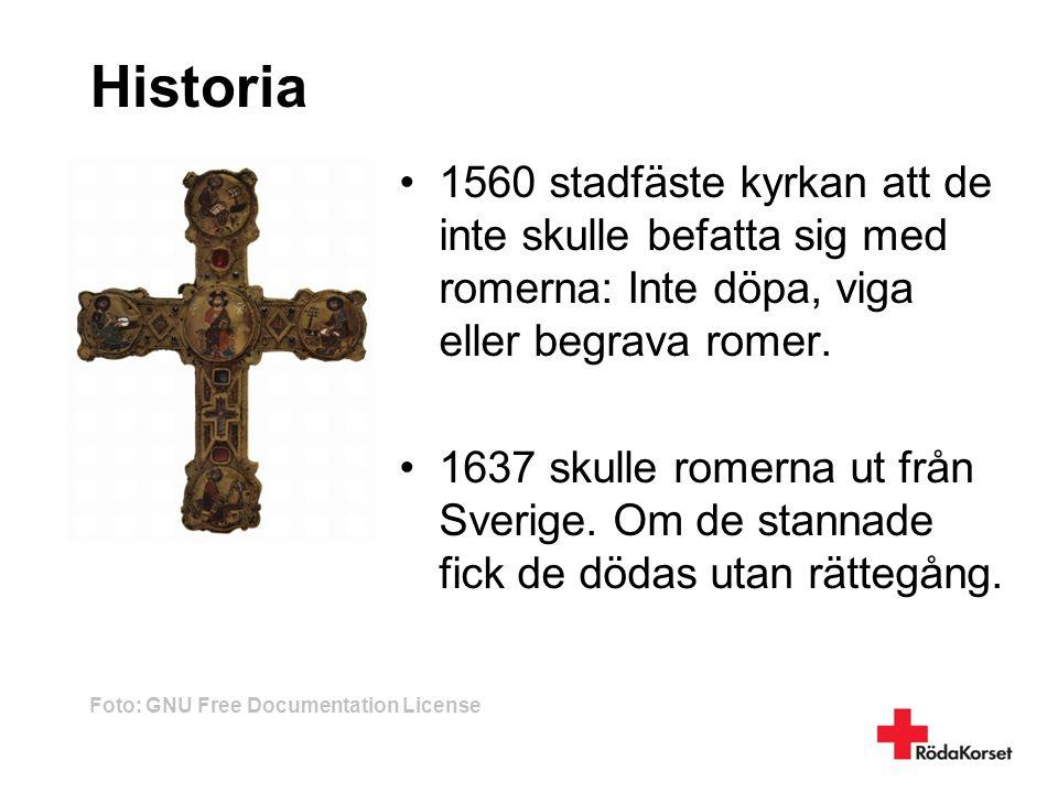Historia 1560 stadfäste kyrkan att de inte skulle befatta sig med romerna: Inte döpa, viga eller begrava romer.