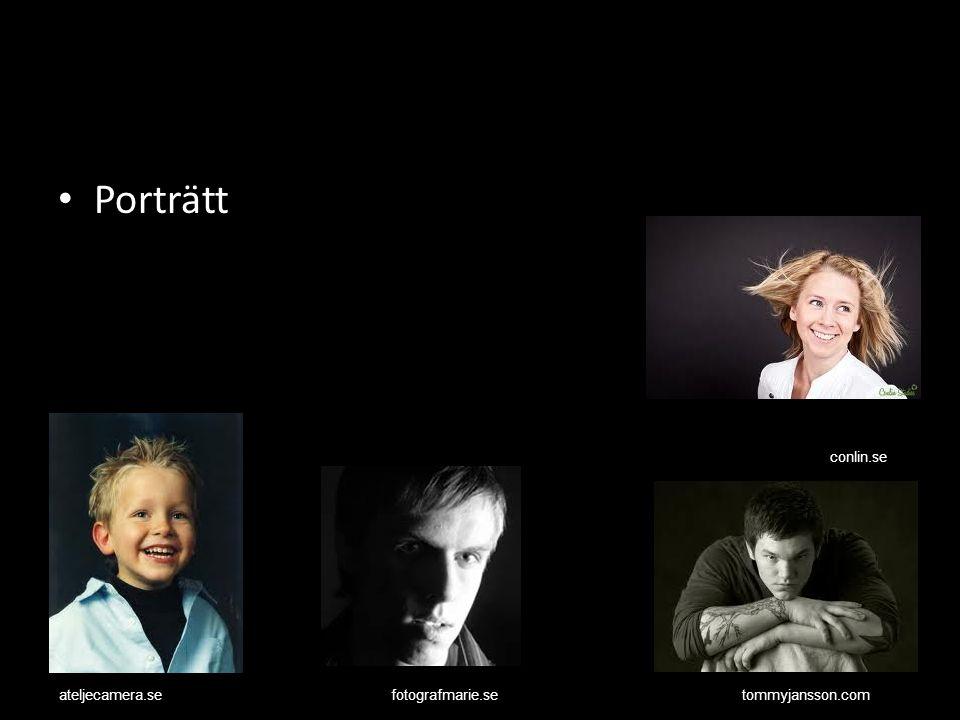 Porträtt conlin.se ateljecamera.se fotografmarie.se tommyjansson.com