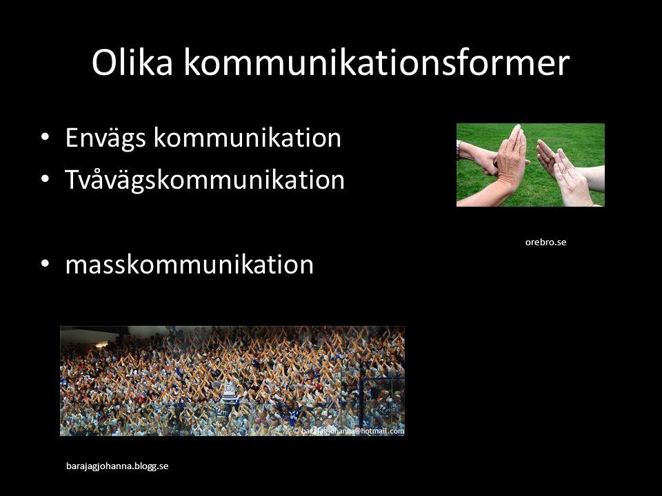 Olika kommunikationsformer
