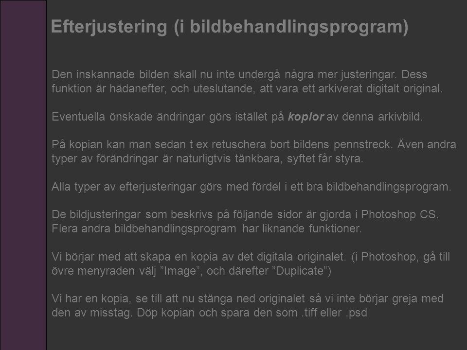 Efterjustering (i bildbehandlingsprogram)