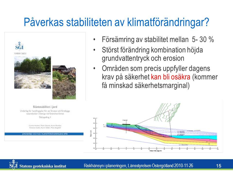 Påverkas stabiliteten av klimatförändringar