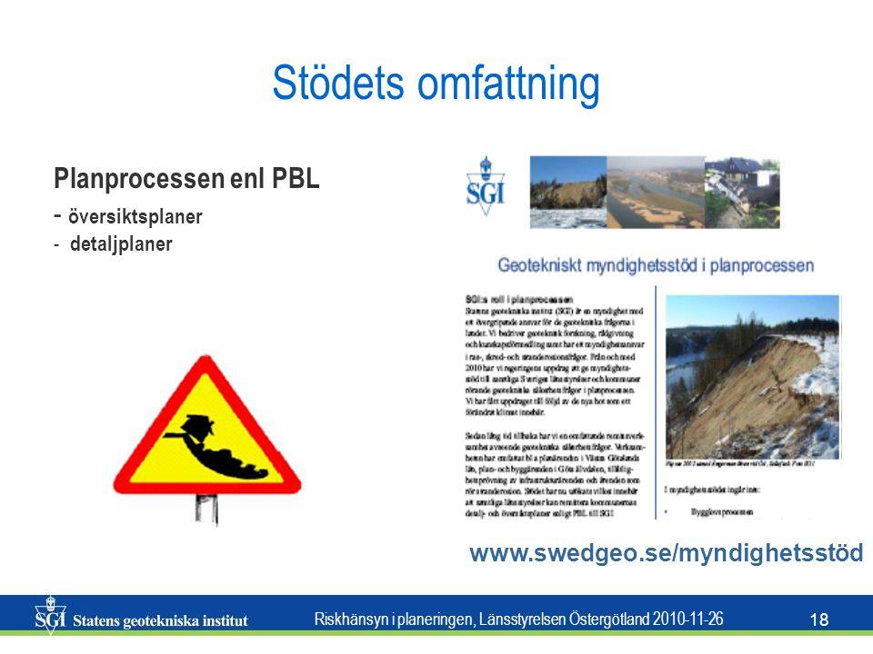 Stödets omfattning Planprocessen enl PBL översiktsplaner