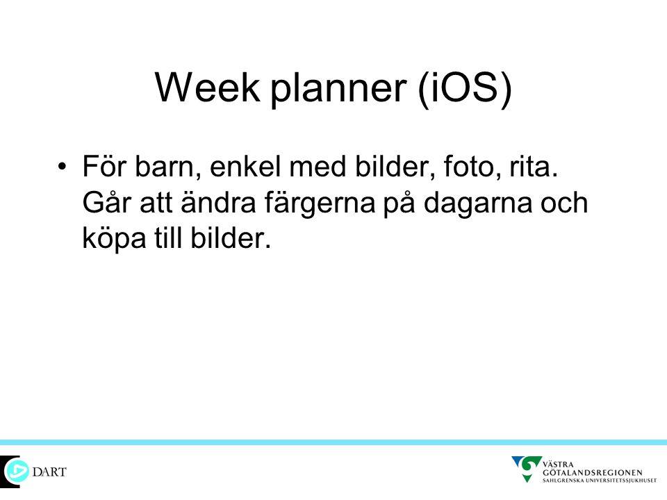 Week planner (iOS) För barn, enkel med bilder, foto, rita.