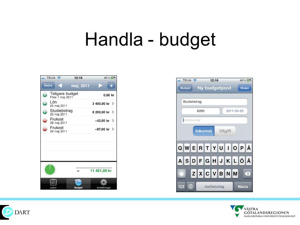 Handla - budget