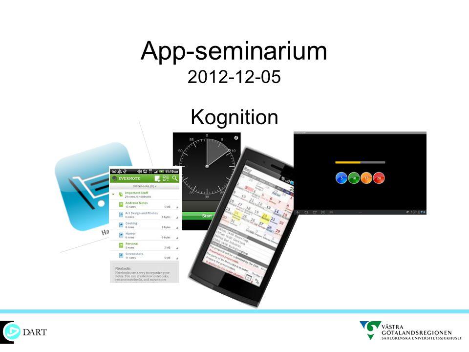 App-seminarium 2012-12-05 Kognition