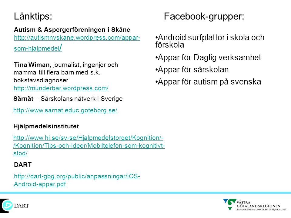 Länktips: Facebook-grupper: Android surfplattor i skola och förskola
