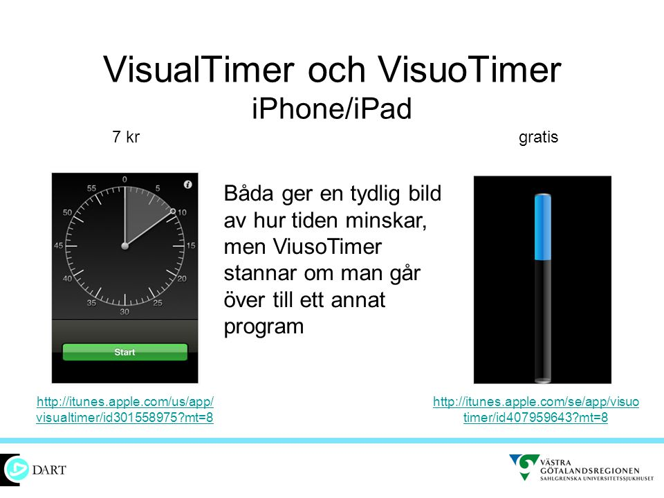 VisualTimer och VisuoTimer iPhone/iPad
