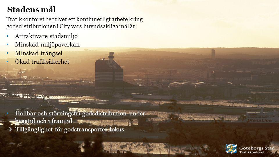 Stadens mål Attraktivare stadsmiljö Minskad miljöpåverkan