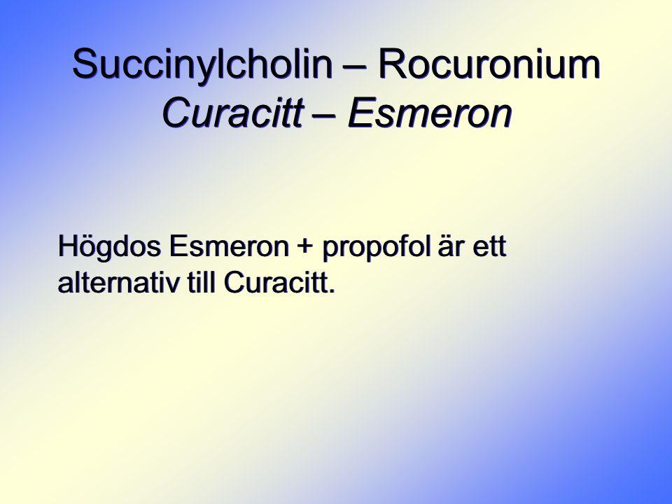 Succinylcholin – Rocuronium Curacitt – Esmeron