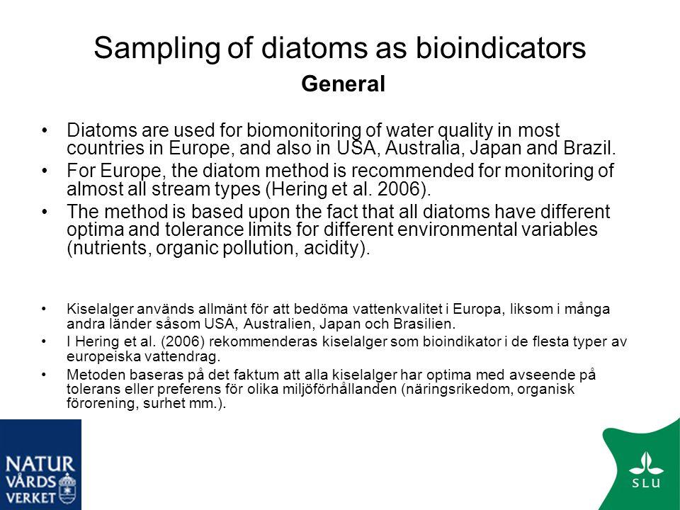 Sampling of diatoms as bioindicators General