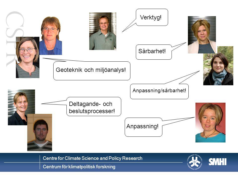 Geoteknik och miljöanalys!