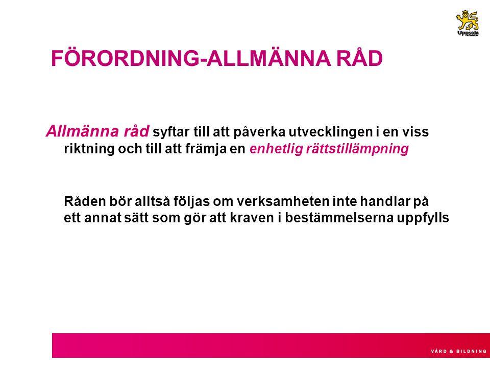 FÖRORDNING-ALLMÄNNA RÅD