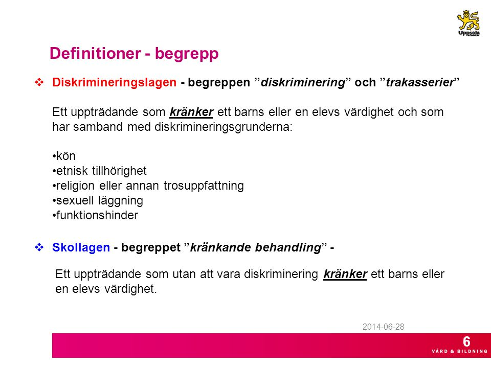 Definitioner - begrepp