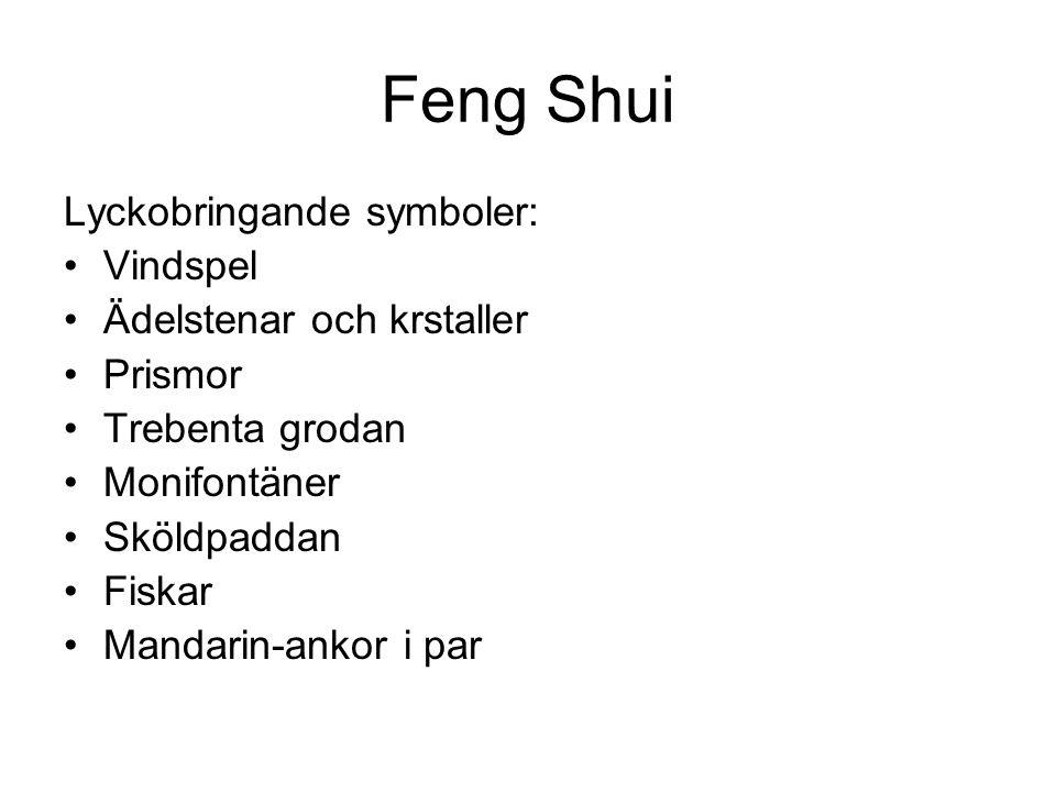 Feng Shui Lyckobringande symboler: Vindspel Ädelstenar och krstaller
