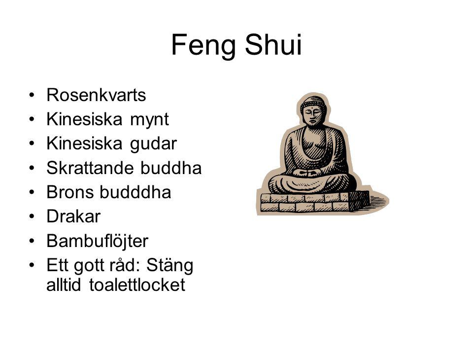 Feng Shui Rosenkvarts Kinesiska mynt Kinesiska gudar Skrattande buddha