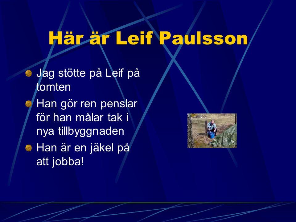 Här är Leif Paulsson Jag stötte på Leif på tomten