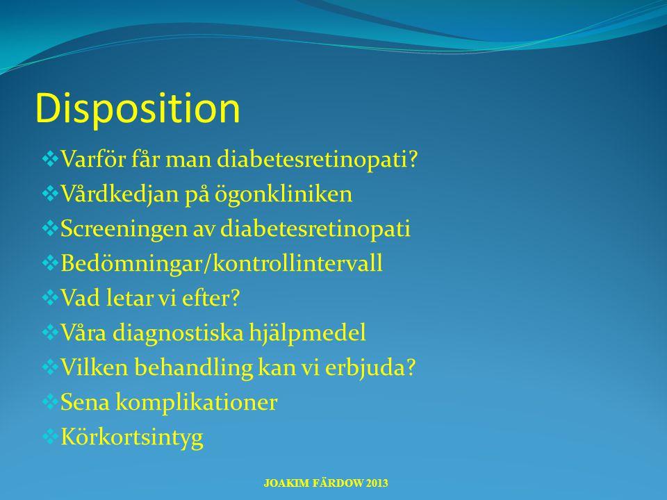 Disposition Varför får man diabetesretinopati