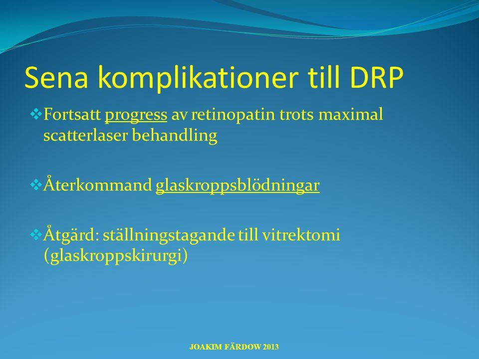 Sena komplikationer till DRP