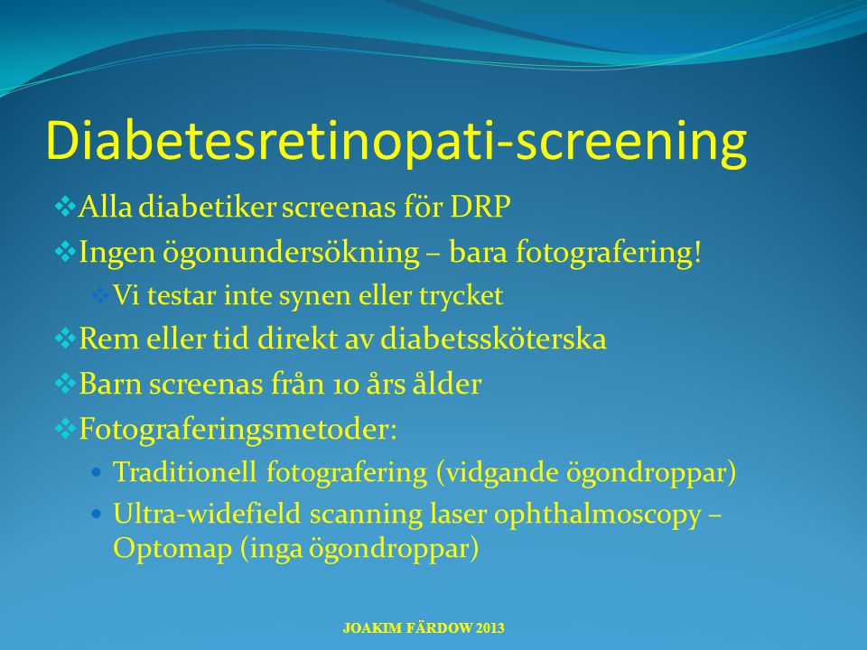 Diabetesretinopati-screening