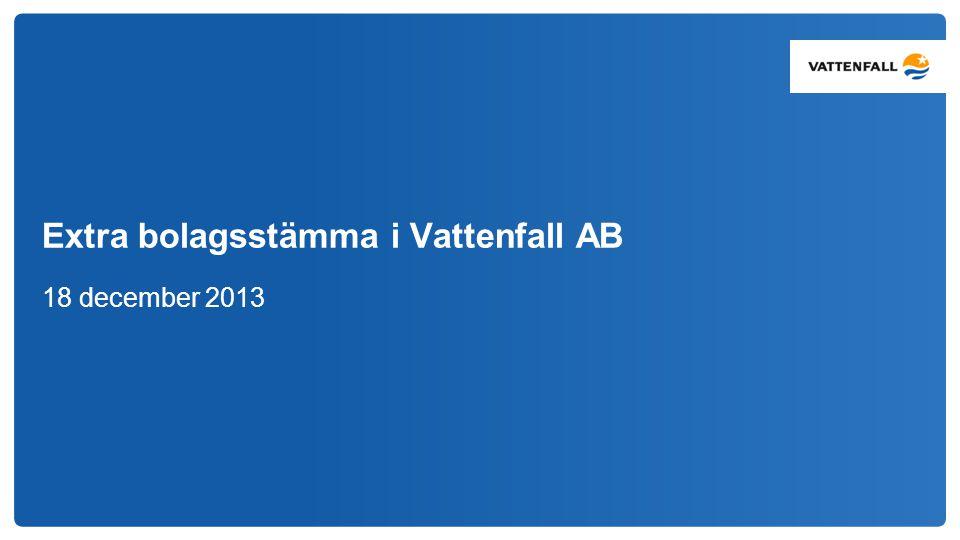 Extra bolagsstämma i Vattenfall AB