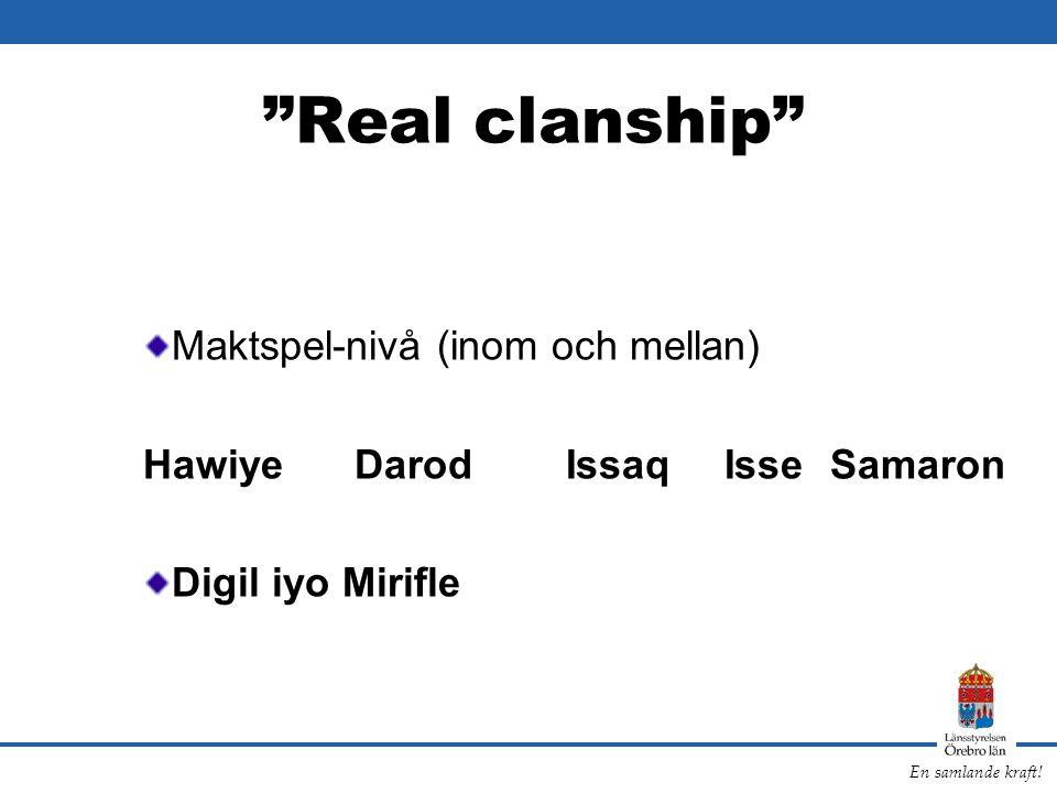 Real clanship Maktspel-nivå (inom och mellan)