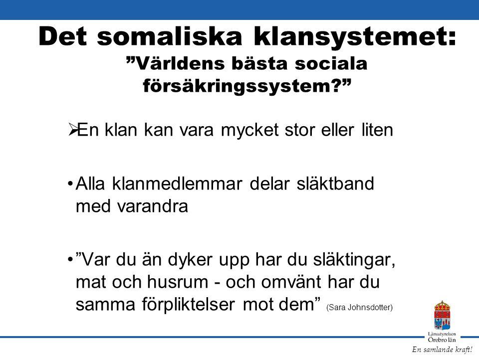Det somaliska klansystemet: Världens bästa sociala försäkringssystem