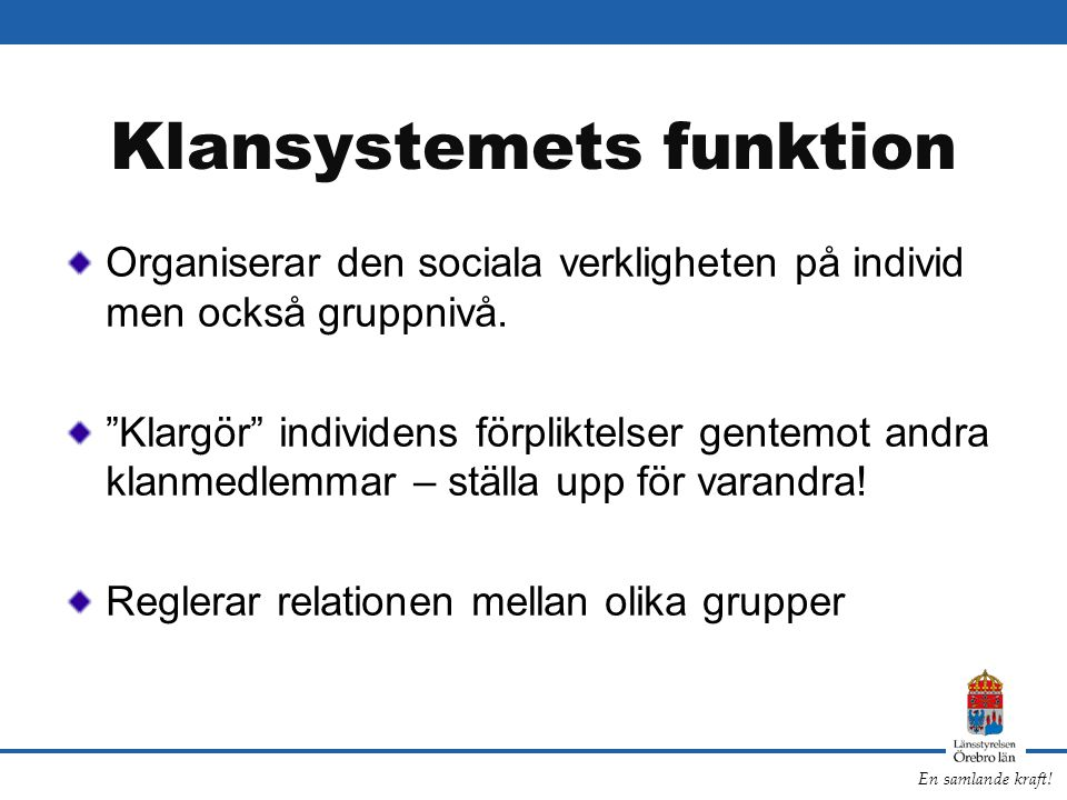 Klansystemets funktion