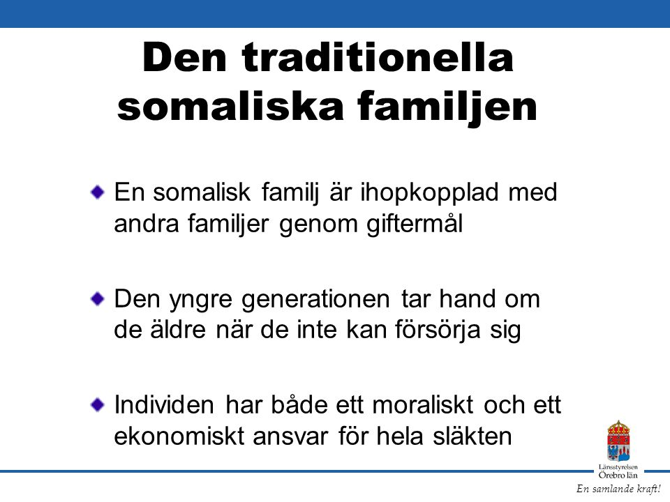 Den traditionella somaliska familjen