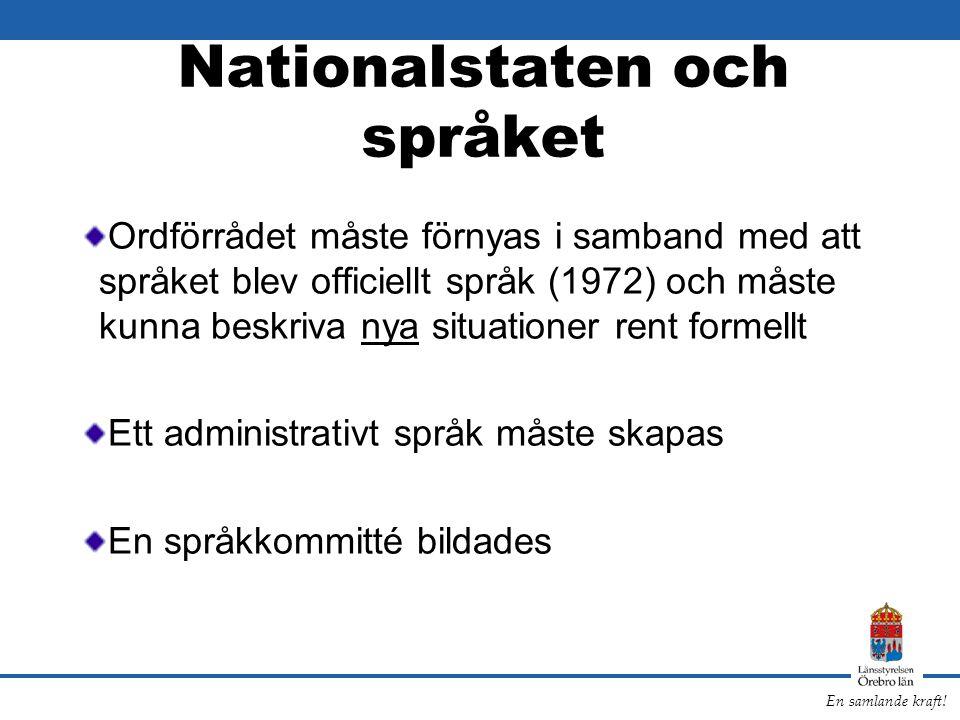 Nationalstaten och språket