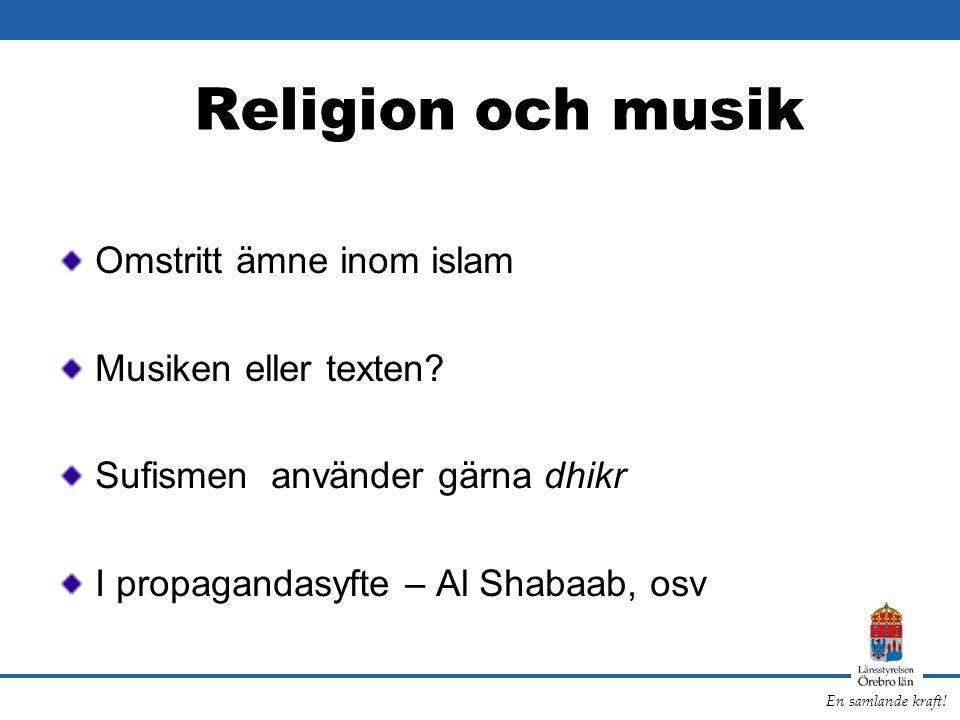 Religion och musik Omstritt ämne inom islam Musiken eller texten